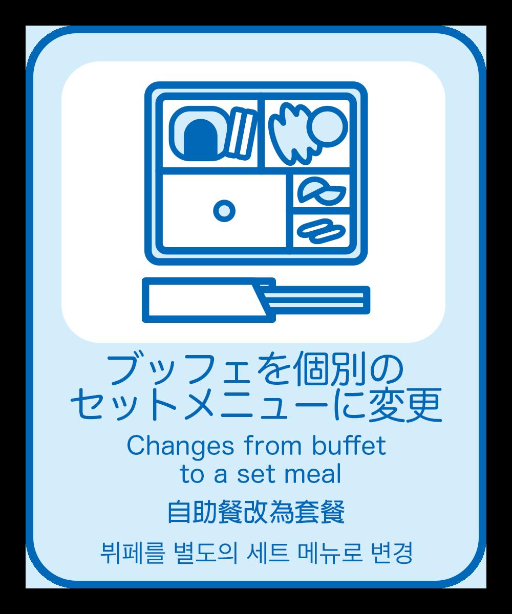 10.(和食)ブッフェを個別のセットメニューに変更