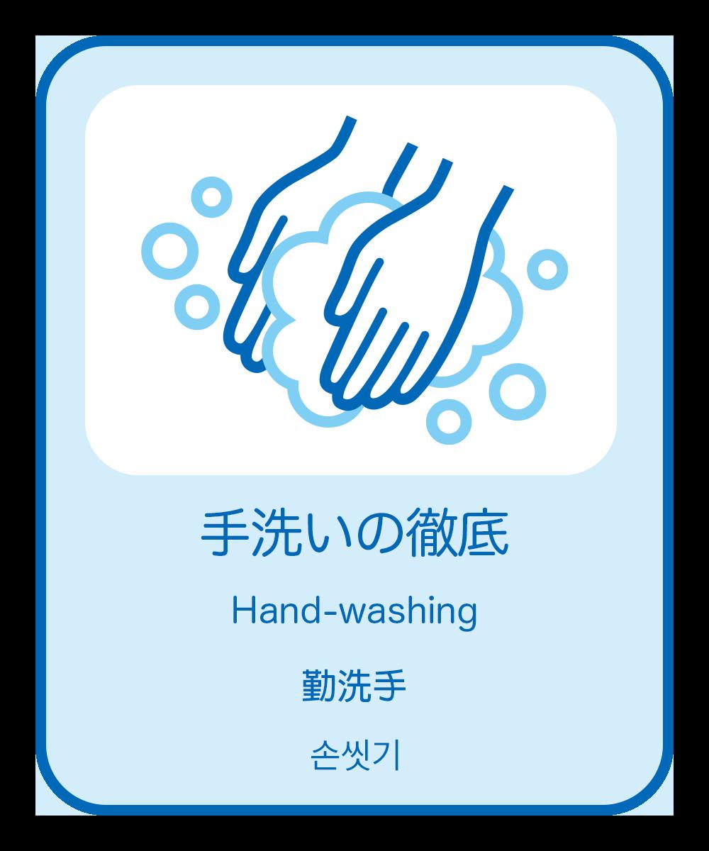 3. 手洗いの徹底